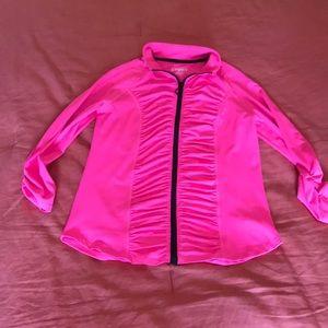 Hot Pink Hard Candy Sport Large Zip up Jacket